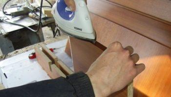Кромка ДСП: как обработать торцы своими руками