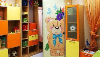 Внутренний дизайн, наполнение шкафа-купе для детской