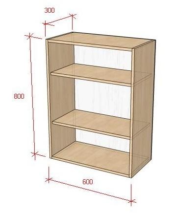 Как рассчитать кухонный навесной шкаф своими руками