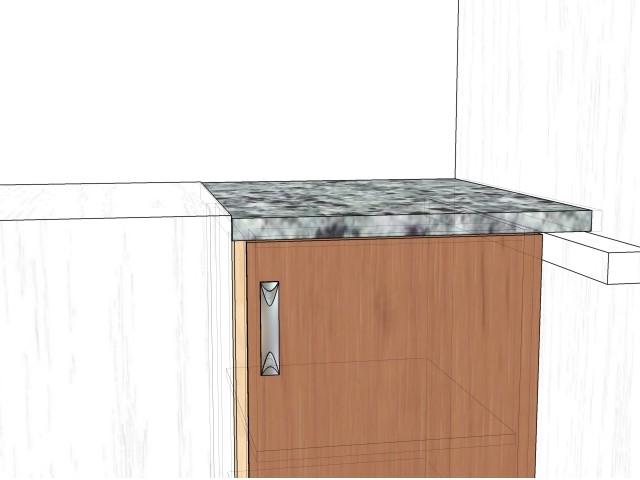 кухонный стол-тумба под подоконник в хрущевке