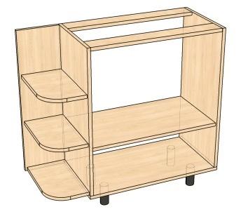 кухонный приставной стол-тумба своими руками