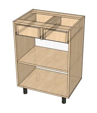 Как сделать комбинированный кухонный стол-тумбу с ящиками и полками