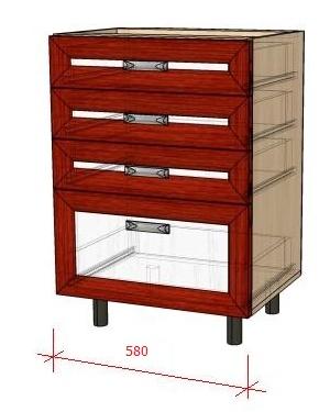 Как сделать кухонный стол-тумбу с выдвижными ящиками своими руками