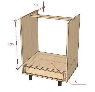 Как сделать кухонный стол-тумбу под встроенный духовой шкаф
