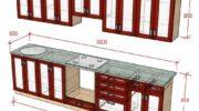 Прямая кухня своими руками: как рассчитать деталировку кухонных столов-тумб и навесных шкафов
