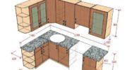 Угловая кухня своими руками, чертежи и схемы для расчета