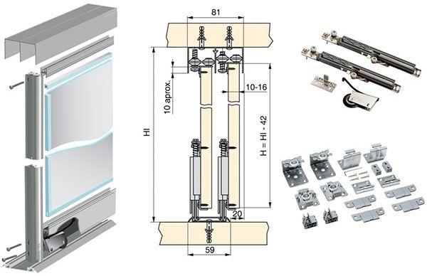 аксессуары к раздвижным механизмам для шкафов-купе